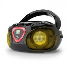 Auna Radio Boombox CD USB MP3 AM / FM Bluetooth 2.1 cu LED Culoare negru