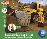 Set de construit ATCO Buldozer 60 piese, 6-8 ani, Baiat