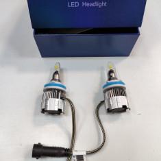 Set 2 becuri cu led H11/H8/H9 MINI2 super slim,12v, 50w 8000lm 6000k