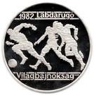 Ungaria 500 Forint 1981 - (Football) Argint 28g/640, Aoc1 KM-625 UNC !!!