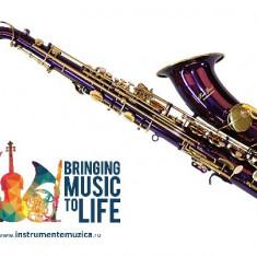Tenor Saxofon MOV/LILA+AURIU curbat Karl Glaser Sax Saxophone Bb(Sib)