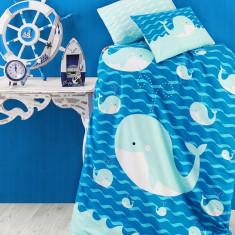 Lenjerie de pătuț copii Valentini Bianco VKB10/Ocean