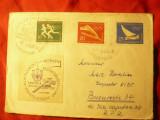 Plic special - Olimpiada - Expozitia Filatelica 1960 DDR, cu vigneta expozitiei
