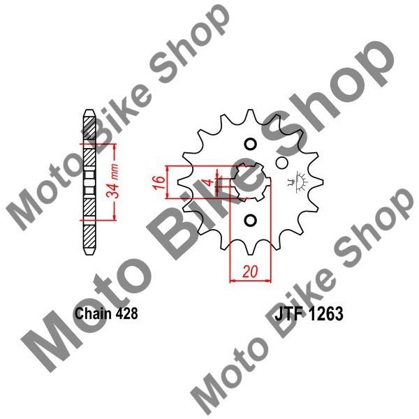 MBS Pinion fata 428 Z15, Cod Produs: JTF126315
