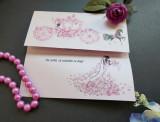 Invitatie nunta suport carton perlat OPIS041