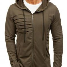 Bluză cu glugă pentru bărbat verde Bolf 9095