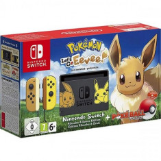 Consola Nintendo Switch + Pokemon Let`s Go Eevee Bundle