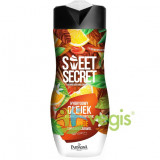 Sweet Secret Gel Hibrid de Baie si Dus cu 1/4 Crema Regeneranta cu Portocale, Scortisoara si Caramel 300ml