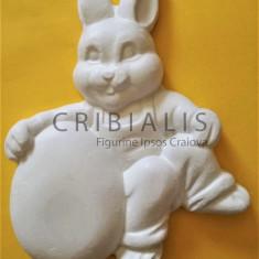 Iepuras cu ou - Figurina ipsos pentru Paste