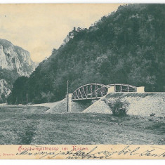 2463 - ORSOVA, Bridge, Litho, Romania - old postcard - used - 1899