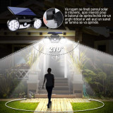 Lampa Solara Reglabila, LittleDomi, Lumina Alba, Unghi Iluminare 360 , 30 LED-uri SMD, 800 Lumeni, IP65 Rezistent la Apa, Zapada si Praf, Senzor de Mi