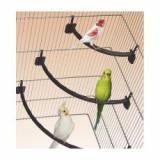 Stinghie din plastic pe maro pentru păsări - 1,2 x 27 cm