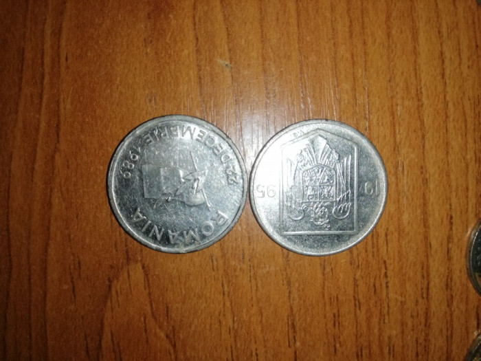 Schimb cu monede vechi 10 și 5 lei