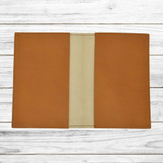Husa pasaport din piele naturala, Maro