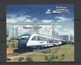 Romania MNH 2004 - Trenuri Moderne Sageata Albastra - LP 1632 - colita, Nestampilat