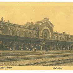 736 - RAMNICU-SARAT, Buzau, Railway Station, Romania - old postcard - unused