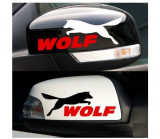 Sticker oglinda Wolf