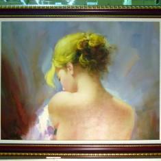Tablou pictat manual pe panza in ulei A-012, Natura, Realism