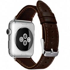 Curea pentru Apple Watch 44 mm piele iUni Vintage Dark Coffee