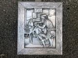 Tablou,placheta franceza in basorelief,dentist,in antichitate