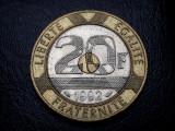 20 Franci / Francs 1992  Franta MONT ST. MICHEL, Europa