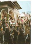 @carte postala-SARBATORI DE IARNA-PORT POPULAR -plugusorul