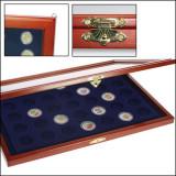Vitrina din lemn neagra pentru monede