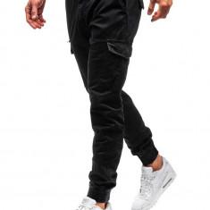 Pantaloni joggers cargo bărbat negri Bolf 5399