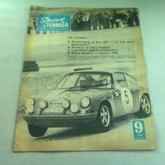 REVISTA SPORT SI TEHNICA NR.9/1968