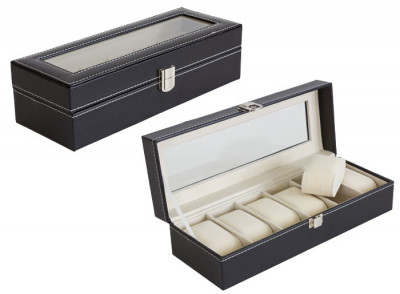 Cutie Caseta Eleganta pentru 6 Ceasuri, Bijuterii sau Bratari foto