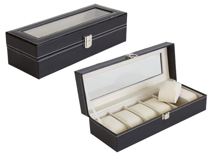 Cutie Caseta Eleganta pentru 6 Ceasuri, Bijuterii sau Bratari