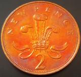 Moneda 2 (TW0) NEW PENCE- ANGLIA / MAREA BRITANIE, anul 1971 *cod 789 - A.UNC, Europa, Bronz