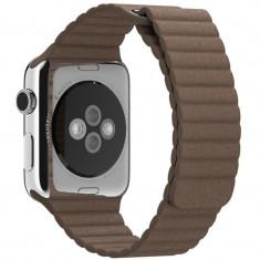 Curea piele pentru Apple Watch 44mm iUni Brown Leather Loop