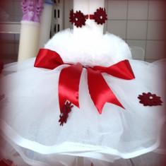 Lumanare de botez pentru fetite si baieti cu floricele colorate - FLORICELE2
