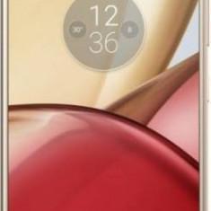Telefon Mobil Lenovo Moto M 32GB Dual Sim 4G Gold, Neblocat, 1080x1920 pixeli (FHD)