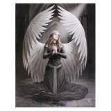 Tablou canvas inger gotic, Ruga Pentru Cei Cazuti 19x25cm Anne Stokes