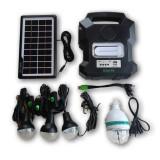 Kit solar portabil Gdlite GD-1000A, USB, bluetooth, radio FM, MP3, 4 becuri