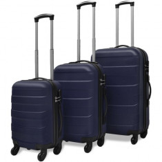 Set valize rigide albastre, 3 buc.