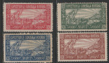 1906 Romania - Seria de 4 vignete Expozitia Generala