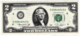 SUA 2 DOLARI TWO DOLLARS 1976 Declaratia de Independenta1776 seria D CLEVLAND 1