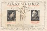 """Diploma """"Recunoștință Ostașului Dezrobitor"""" cu semnatura Ion Antonescu"""