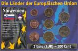 Slovenia Set 8 - 1, 2, 5, 10, 20, 50 euro cent, 1, 2 euro 2007 - UNC !!!