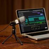 Microfon cu tripod, negru, USB, Gonga