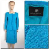 Costum Rena Lange  original  fusta si sacou - M, 38, Albastru