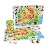 Puzzle Cunoastere Noriel - Harta Romaniei, 150 piese