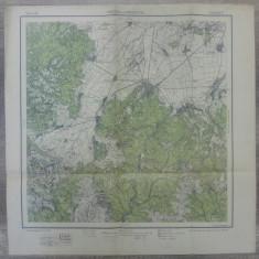Predeal si Brasovul// harta Serviciul Geografic Armatei 1916