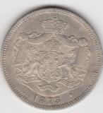 * Moneda 1 leu 1873 - patina