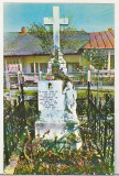 Bnk cp Manastirea Varatic - Mormantul Veronicai Micle - uzata, Circulata, Printata, Agapia
