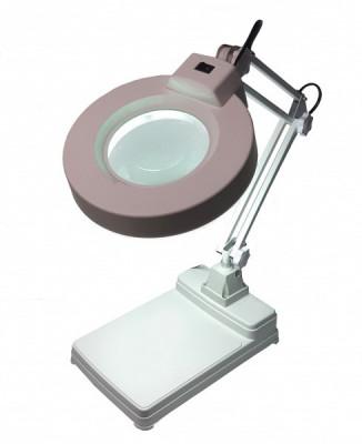 Lampa profesionala cu lupa si neon circular, ideala pentru ceasornicari, cosmeticieni, service gsm - 8323 foto