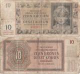 1942 (24 I), 10 korún (P-8a) - Protectoratul Boemiei și Moraviei!